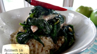 Spinach in Coconut Milk