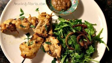 Tamarind Coconut Chicken Kabobs