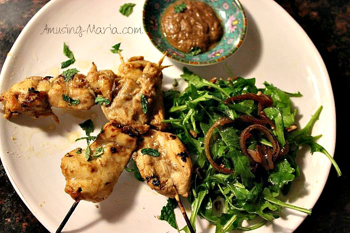 Tamarind Coconut Chicken Kabobs