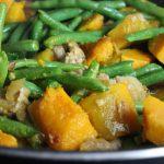 Stir Fried Kabocha Squash with String Beans