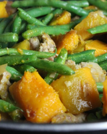 Stir Fried Kabocha Squash with String Beans
