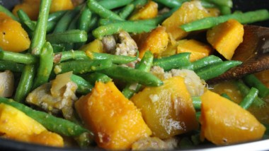 Stir-Fried Kabocha Squash and String Beans