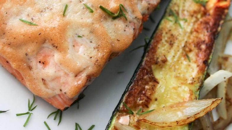 Baked Salmon with Calamansi Mayonnaise