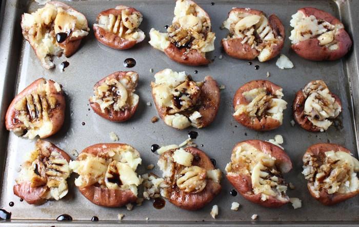 Roasted Garlic Adobo Baby Potatoes