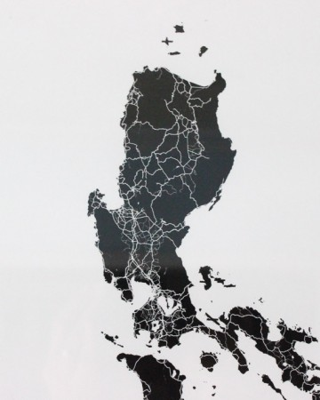 The Philippine Islands in Black and White Modern Map Art