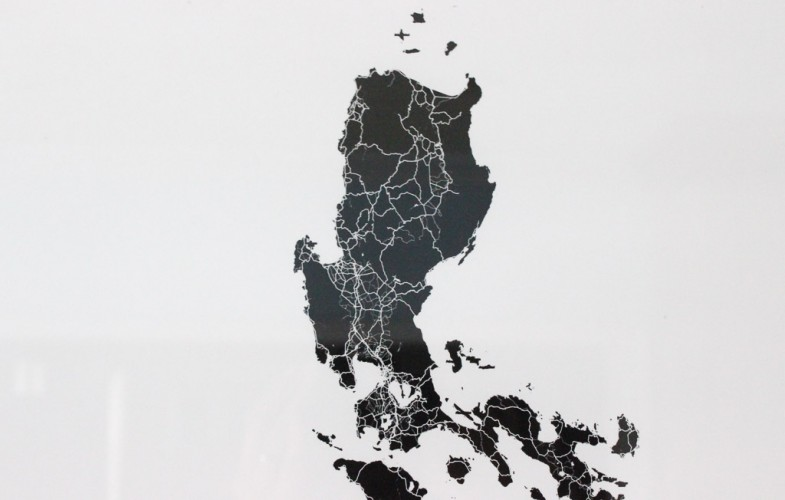 The Philippine Islands in Black and White – Modern Map Art