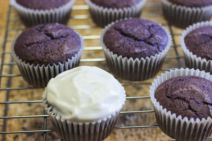 Easy Ube Cupcakes with Coconut Cream Icing