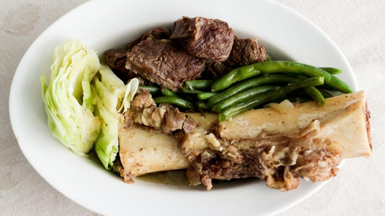 Nilagang Baka – Beef Shank Soup with Cabbage and Green Beans