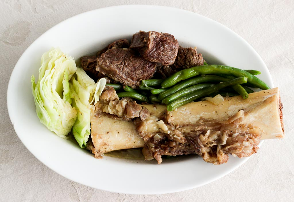 Nilagang Baka Beef Shank Soup With Cabbage And Green Beans