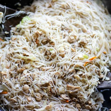 Rotisserie Chicken Stir Fry with Rice Noodles