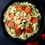Cauliflower Fried Rice with Chicken and Sausage
