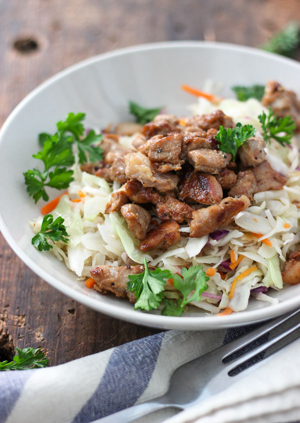 Lean Pork Stir Fry in Lemon and Soy Sauce