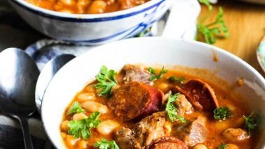 Filipino Style Pork and Linguica White Bean Soup