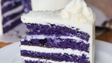 Easy Ube Cake -Purple Yam Cake