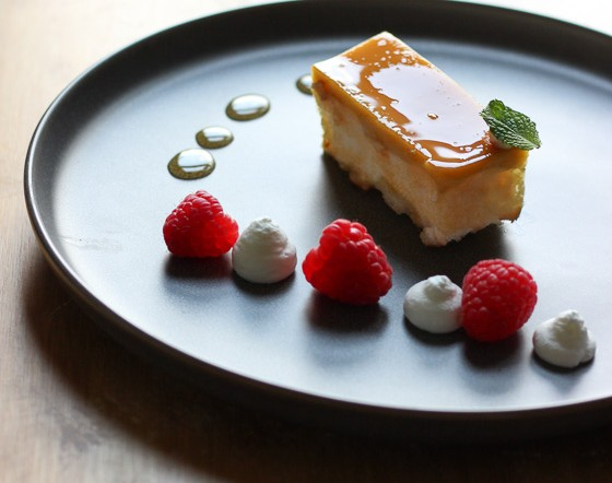 Leche Flan Angel Food Cake