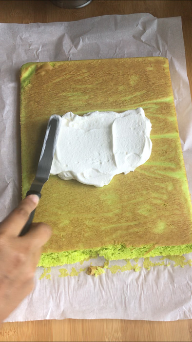Easy Coconut Pandan Roll Cake Recipe
