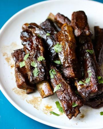 Filipino Style Sweet Adobo Pork Ribs