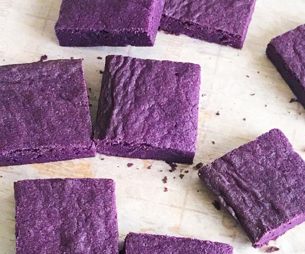 UBE Brownies – a simple and easy purple yam recipe