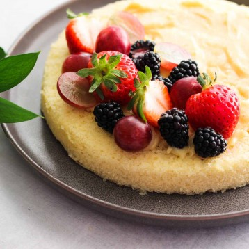 Simple White Cake – one layer cake recipe