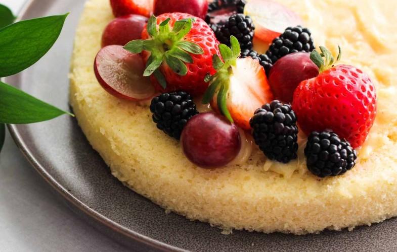 Simple White Cake – one layer cake recipe